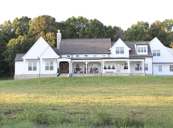 White Farmhouse Paint Color Alabaster White Sherwin Williams Best White Farmhouse Paint Color Alabaster White Sherwin Williams Beautiful Homes of Instagram Home Bunch