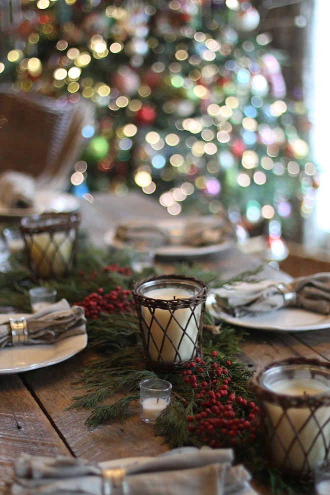 Natural Farmhouse Rustic Christmas Decorating Ideas
