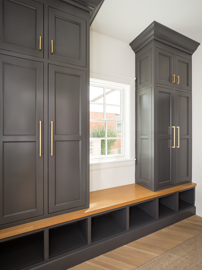 Charcoal cabinet paint color Trout Gray by Benjamin Moore Charcoal cabinet paint color Trout Gray by Benjamin Moore #BenjaminMoore #TroutGray #Charcoalcabinet #paintcolor