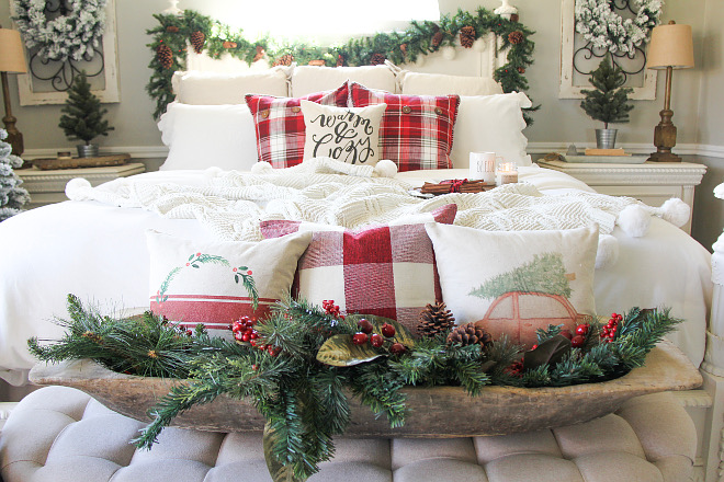 Christmas Pillows Farmhouse Christmas Pillows Buffalo Check Christmas Pillows #ChristmasPillows Home Bunch Beautiful Homes of Instagram