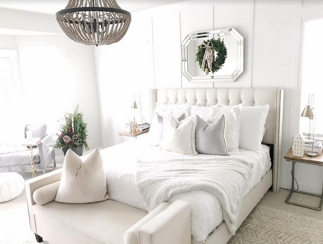 Neutral Bedroom Beautiful bedroom with neutral decor Neutral bedroom #neutralbedroom Home Bunch Beautiful Homes of Instagram