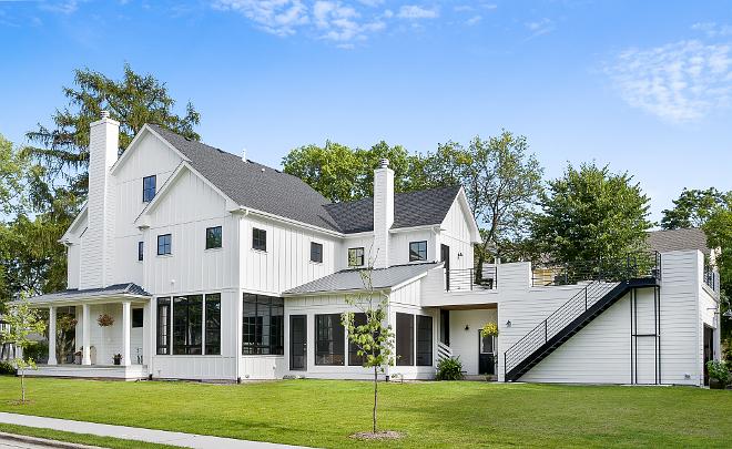 Newly built board and batten modern farmhouse koby kepert for Rear entry garage house