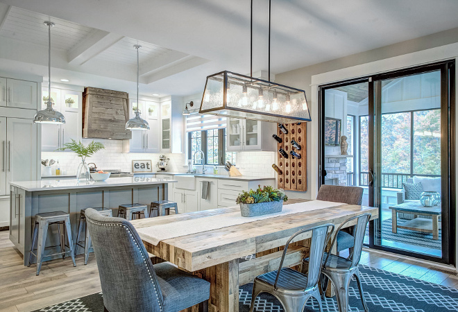 Farmhouse Breakfast Room Best Farmhouse Breakfast Room Design Ideas This farmhouse kitchen/ breakfast room exudes character Notice the sliding black steel doors to patio Farmhouse Breakfast Room Farmhouse Breakfast Room Farmhouse Breakfast Room