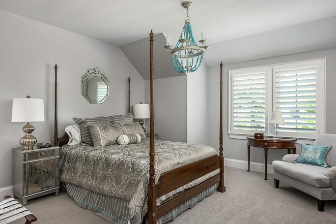 Benjamin Moore Metropolitan grey - 1459 Grey Bedroom paint color
