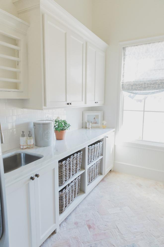 "Laundry Room Brick Flooring Countertop Polished ""Shadow"" Quartzite Laundry Room Brick Flooring Herringbone brick flooring"