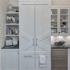 La Cornue Kitchen Storage Solutions White Beach Style With Shiplap - Home Bunch ...