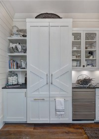 White Beach Style Kitchen with Shiplap - Home Bunch ...