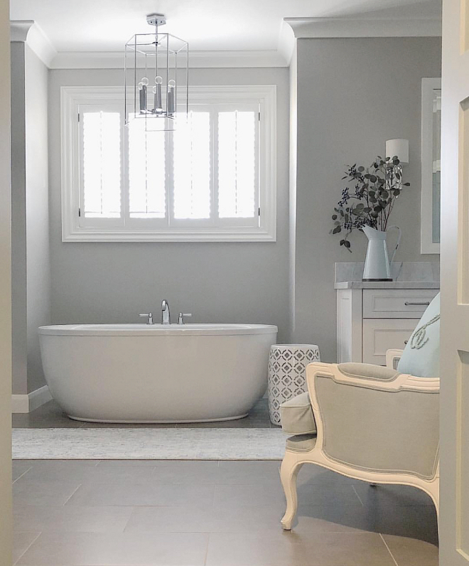 Revere Pewter by Benjamin Moore Bathroom Wall color