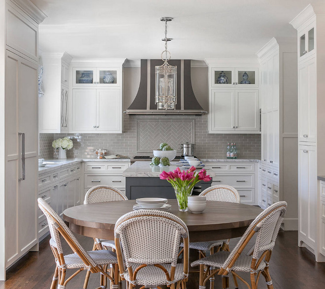 grey kitchen tile cabinets used classic white with backsplash home bunch interior by walker zanger