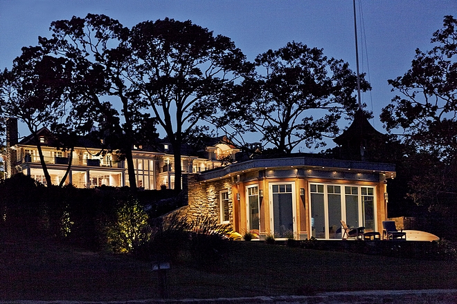 Guest House exterior lighting