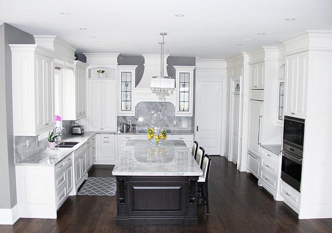 White kitchen with grey walls Classic White kitchen with grey walls White kitchen with grey wall ideas