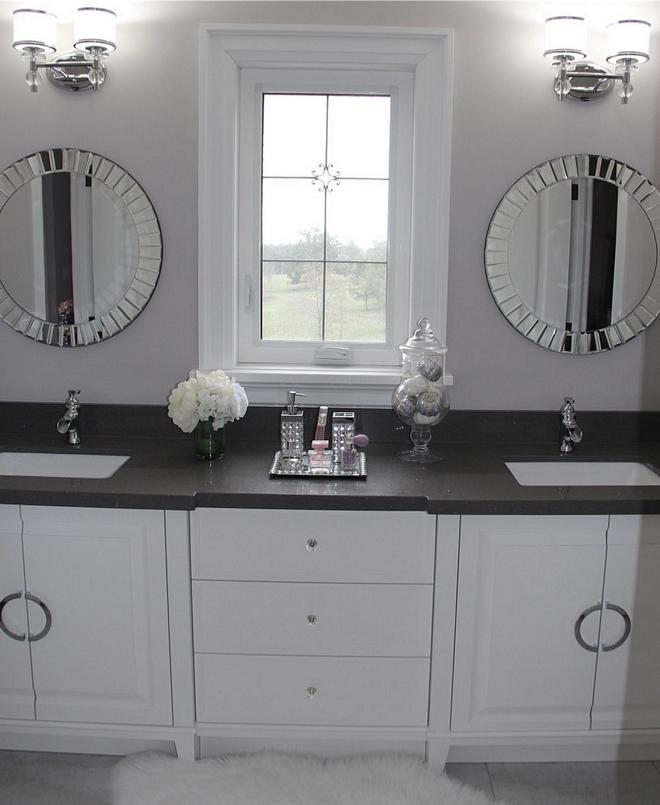 Dark grey quartz bathroom countertop Polished Crystal Dark Grey Quartz Polished Crystal Dark Grey Quartz