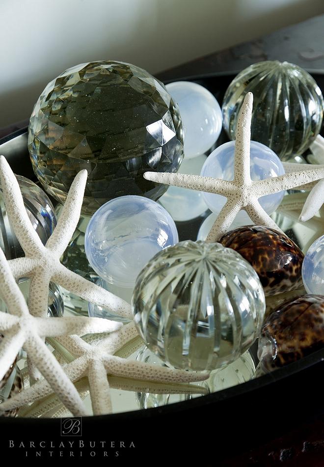 crystals and starfish coastal decor coastal vignette ideas