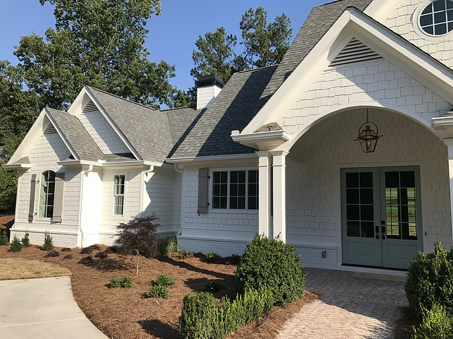 White Cedar Shingle Painted White Cedar Shingle White Cedar Shingle White Cedar Shingle paint color on Home Bunch