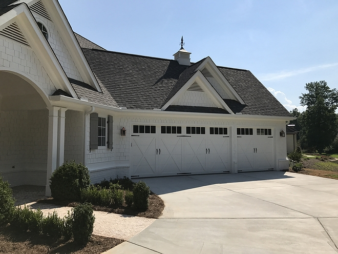 Garage Farmhouse Garage Ideas Triple Garage The brand is South East Door Technologies Southridge Collection Style Hampton with windows #garage