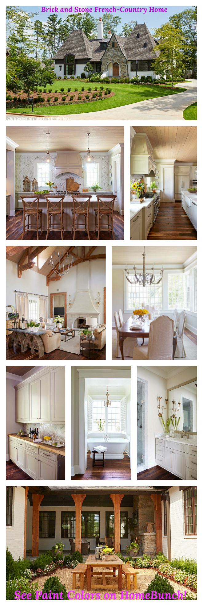 Brick and Stone French-Country Home See Paint Colors and other sources on Home Bunch