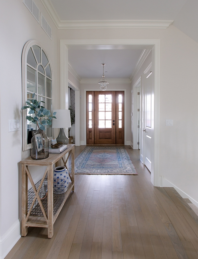 Light hardwood floor I get a ton of questions about our floor color We wanted something light, as our previous home had very dark floors. Unfortunately we do not have the exact formula, but it is a mix of Minwax Classic Gray & Country White applied to white oak flooring