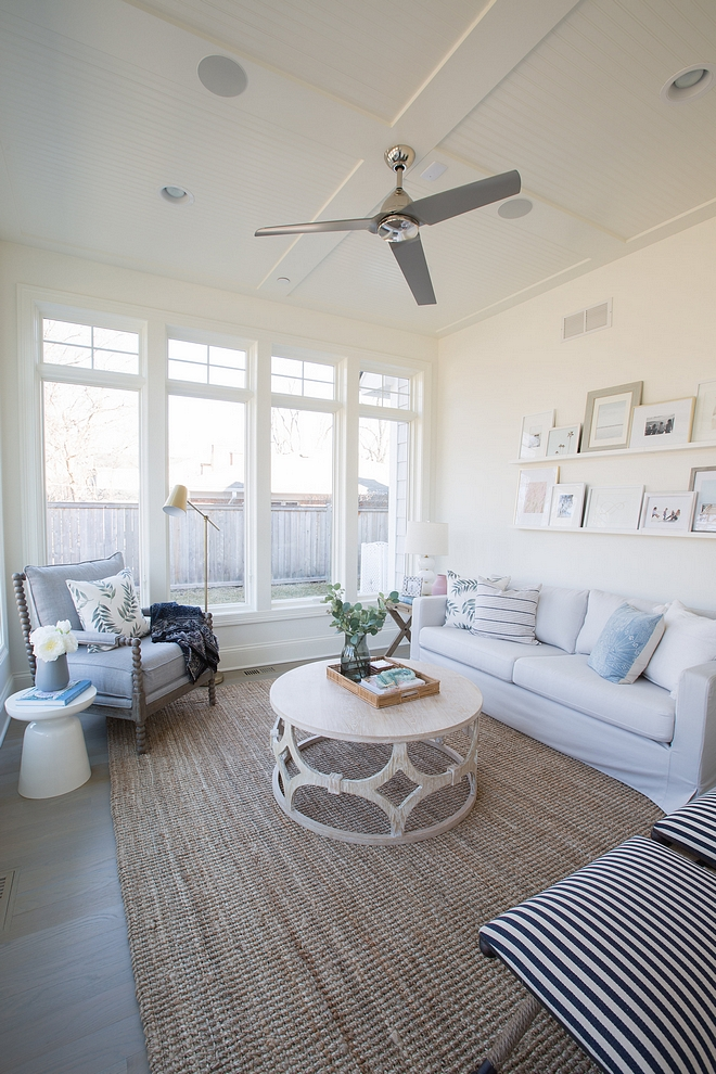 Modern farmhouse sunroom beautiful and peaceful coastal farmhouse sunroom all sources and paint color on Home Bunch
