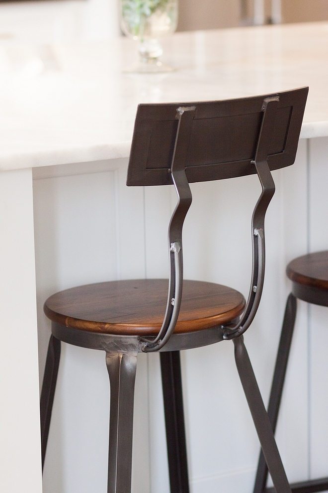 Industrial counterstool metal and wood counterstool metal and wood industrial counterstool source on Home Bunch