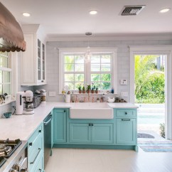 Newport Brass Kitchen Faucet Small Pantry Ideas Custom With Turquoise Cabinets - Home Bunch ...