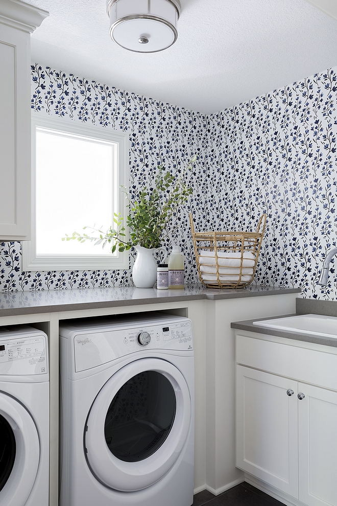 Laundry Wallpaper Laundry Wallpaper Caitlin Wilson Blue belle Wallpaper Laundry Wallpaper #Laundryroom #LaundryroomWallpaper