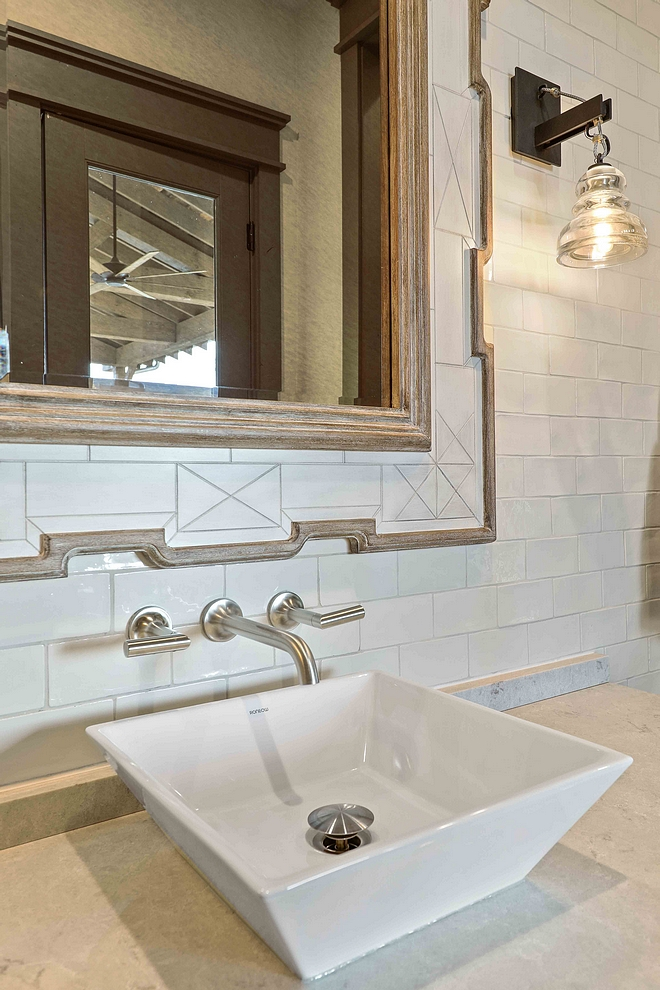 Bathroom Wall Mount Faucet with vessel sink