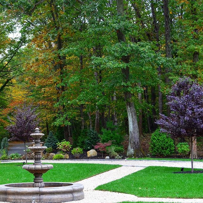Outdoor Fountain Frontyard Fountain Outdoor Fountains frontyard landscaping with outdoor fountains #frontyard #fountains #landscaping