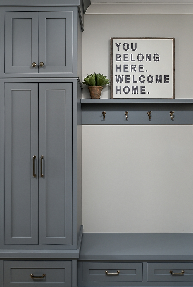 Boothbay Gray by Benjamin Moore cabinet paint color Boothbay Gray by Benjamin Moore #BoothbayGraybyBenjaminMoore