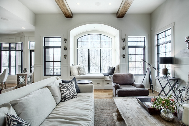 Living room windows The windows are an aluminum clad exterior window with wood on the interior Living room window Inspiration #Livingroomwindows