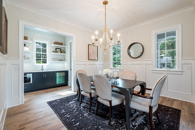 Dining Room New construction home dining room We incorporated a formal dining room in this home for entertaining and family gatherings, but made sure it wasn't too formal for today's buyer #diningroom #newconstruction