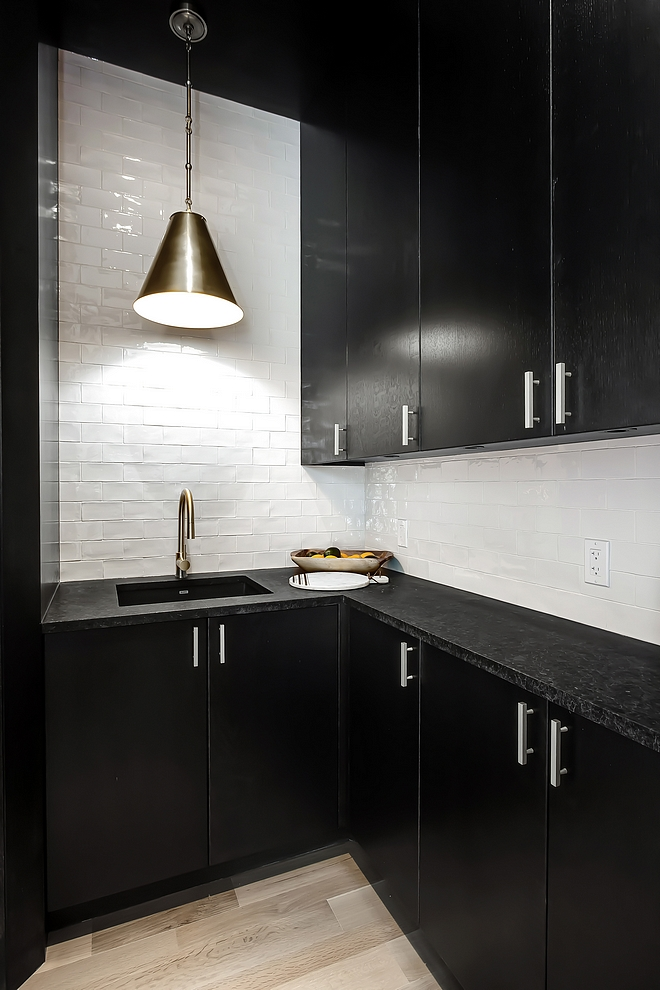 Butlers Pantry Black Cabinet Butlers Pantry Black Cabinet Ideas Black Butlers Pantry Black Cabinetry Butlers Pantry Black Cabinet with Black Granite Countertop #ButlersPantry #BlackCabinet #BlackButlersPantry