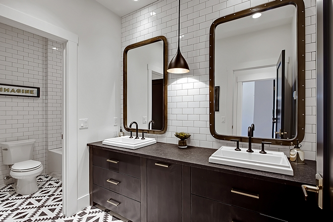 "Bathroom Flooring 8"" X 8"" Handmade Cement Tile in Black/White #BathroomFlooring"