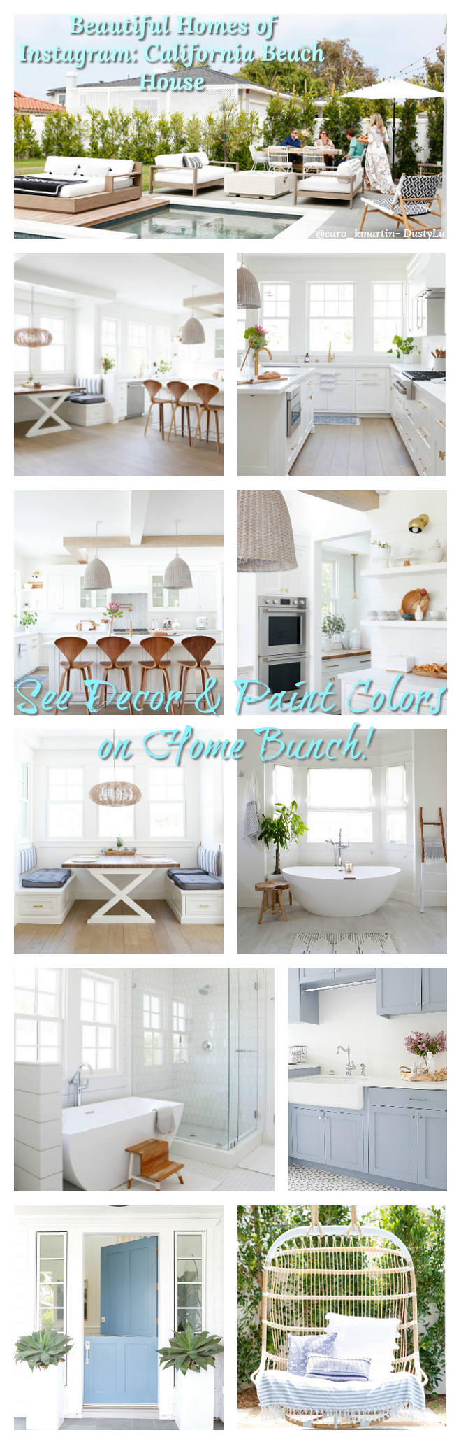 Beautiful Homes of Instagram California Beach House Beautiful Homes of Instagram California Beach Houses