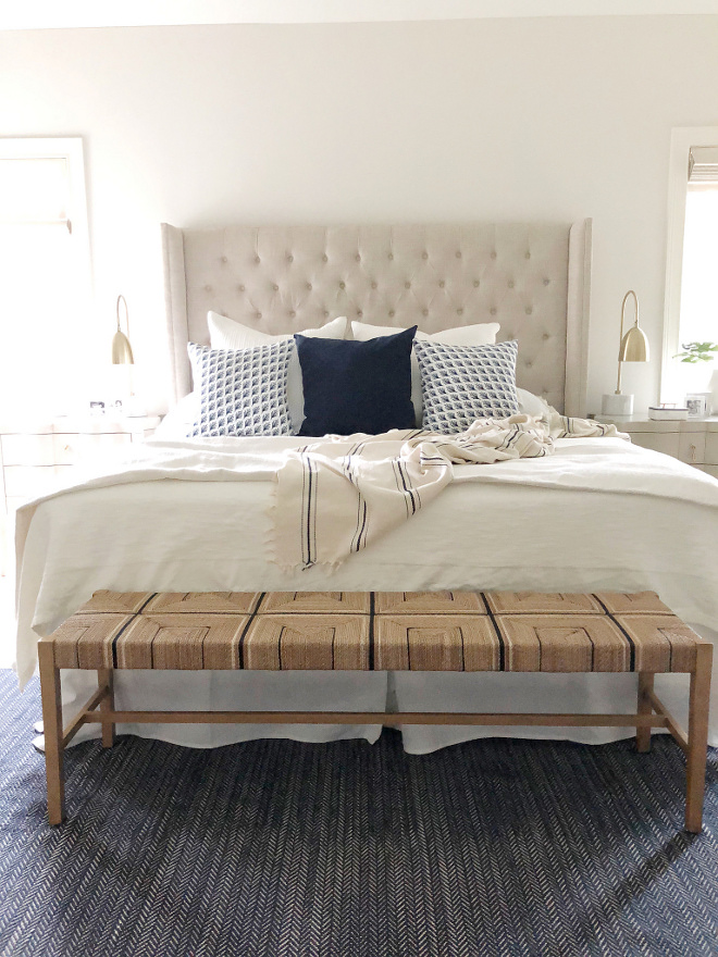 Bedroom Bench Bed Bench backless bench source on Home Bunch Abaca bench #bedroombench #bench #bedroom #abacabench #abaca