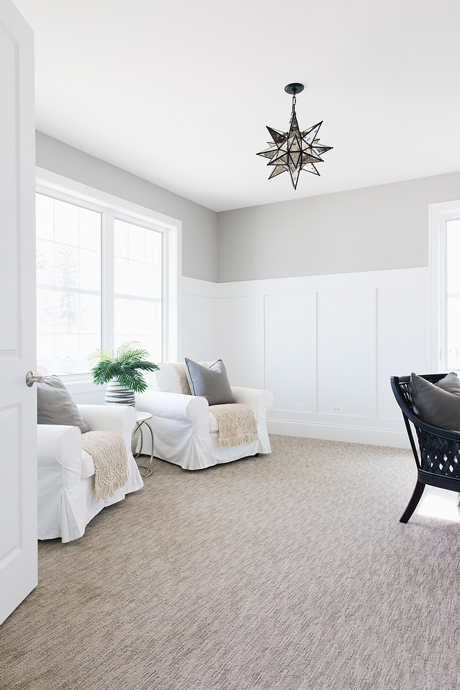 Benjamin Moore Ozark Shadows We have literally painted hundreds of different wall colors over the years and Ozark Shadows never disappoints. It doesn't read purple, or blue, or green. It is a true grey On a swatch it often looks like it has a lot of brown in it and won't be cool enough but once up, it is perfect Benjamin Moore Ozark Shadows #BenjaminMooreOzarkShadows #BenjaminMoore #OzarkShadows