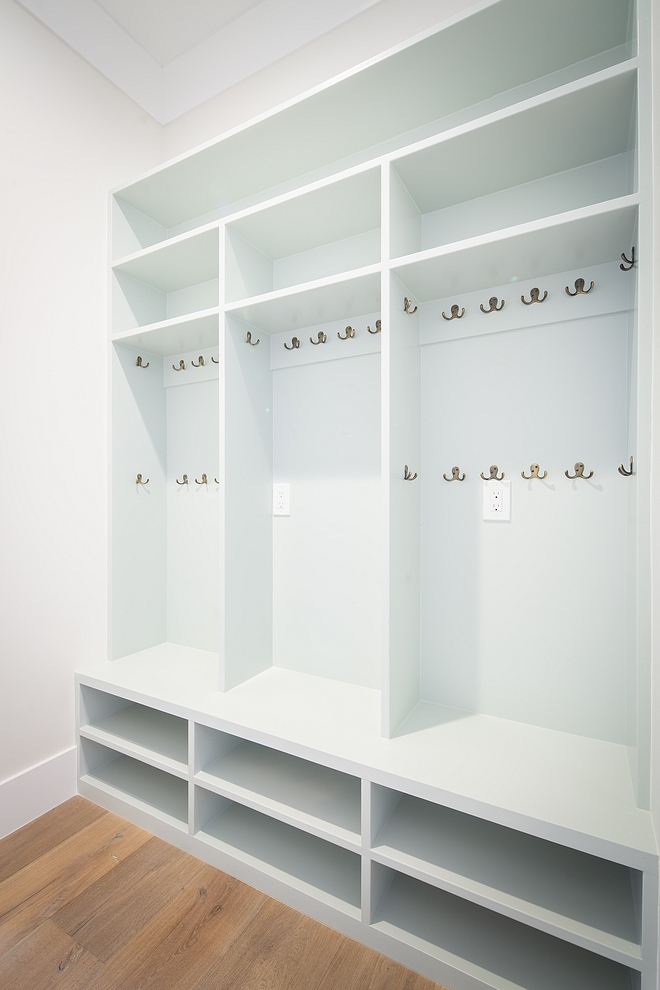 Sea Salt Sherwin Williams Sea Salt Sherwin Williams Mudroom locker paint color is Sea Salt Sherwin Williams which is a very soothing paint color #SeaSaltSherwinWilliams #paintcolor #SherwinWilliams #SherwinWilliamspaintcolor