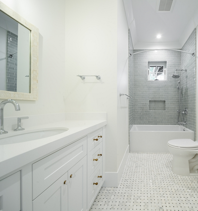White and grey bathroom White and grey bathroom White bathroom with grey tile White and grey bathroom #Whiteandgreybathroom #bathroom
