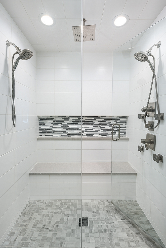 shower tiling The shower tiling is simple and classic It won't go out of style shower tiling ideas #showertiling
