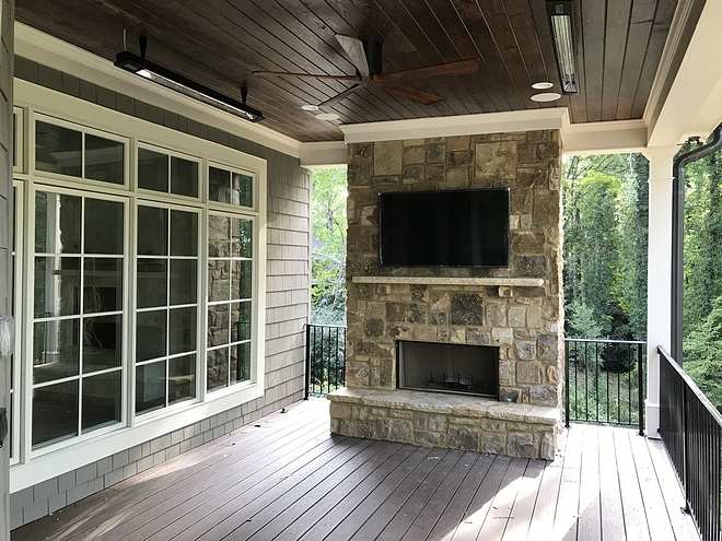 Deck Fireplace Deck stone fireplace Adding an outdoor fireplace to decks #deckfireplace #outdoorfireplace #fireplace #deck