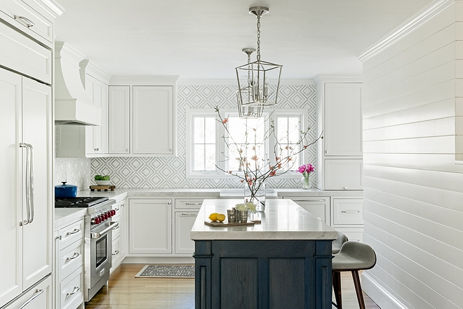 Benjamin Moore White Dove Walls feature shiplap painted in Benjamin Moore OC-17 White Dove Trim is painted in the same color - BM White Dove #BenjaminMooreOC17WhiteDove #BenjaminMooreWhiteDove #BMDoveWhite #WhiteDove #trim #shiplap #paintcolor #BenjaminMoore #BenjaminMoorepaintcolors