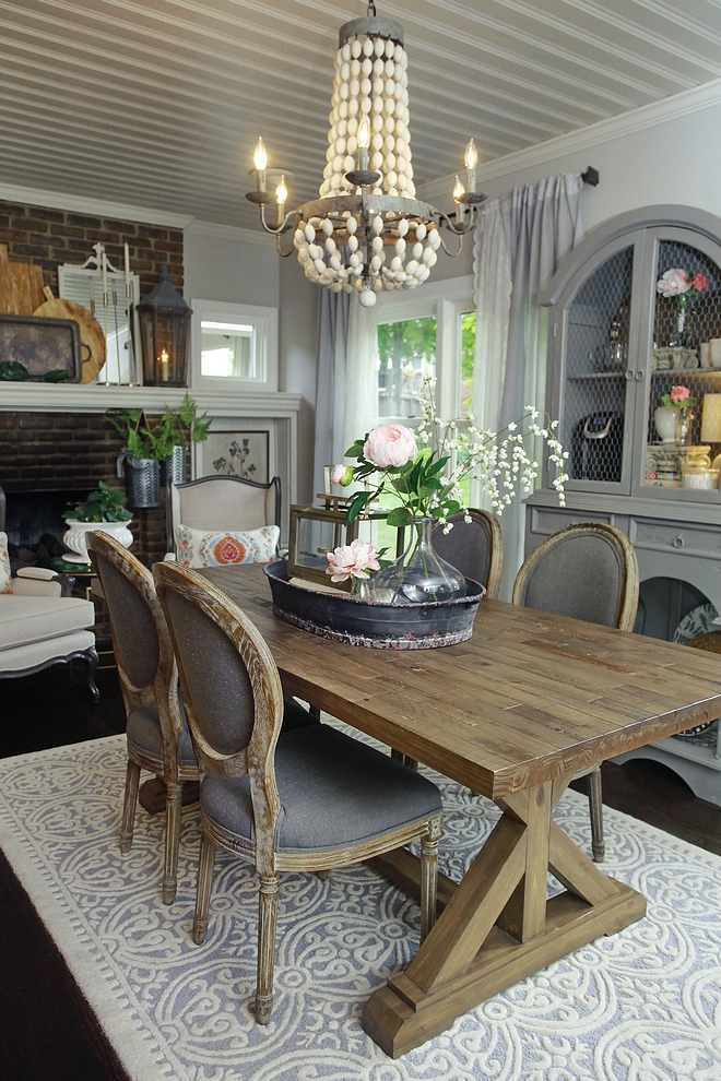 Benjamin Moore Revere Pewter Farmhouse Dining Room Paint Color Benjamin Moore Revere Pewter Farmhouse Dining Room Paint Colors #BenjaminMooreReverePewter #Farmhouse #DiningRoom #PaintColor