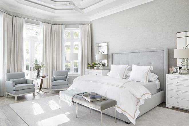 Grey and soft blue bedroom color scheme Pale Grey and soft blue bedroom color scheme Grey and soft blue bedroom color scheme ideas #Greybedroom #softblue #bedroomcolorscheme