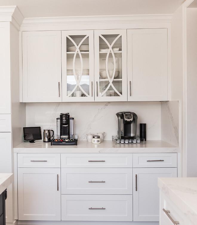 Coffee Bar Eclipse mullion cabinet door Glass Inset Cabinet Door with eclipse mullion cabinet door #eclipsemullion #cabinetdoor #CoffeeBar
