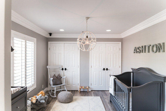 Gray Pearl by Dunn Edwards Grey nursery paint color #GrayPearlbyDunnEdwards
