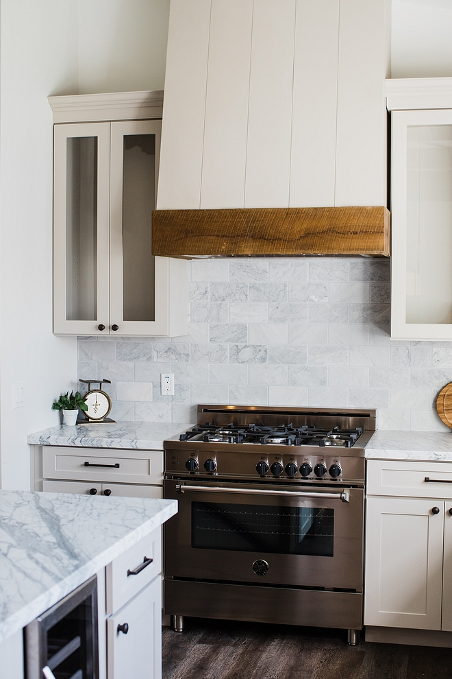 "Backsplash Kitchen carrara marble backsplash Kitchen backsplash is 4""x8"" tumbled carrara marble #Backsplash #Kitchenbacksplash #carraramarble #backsplash"