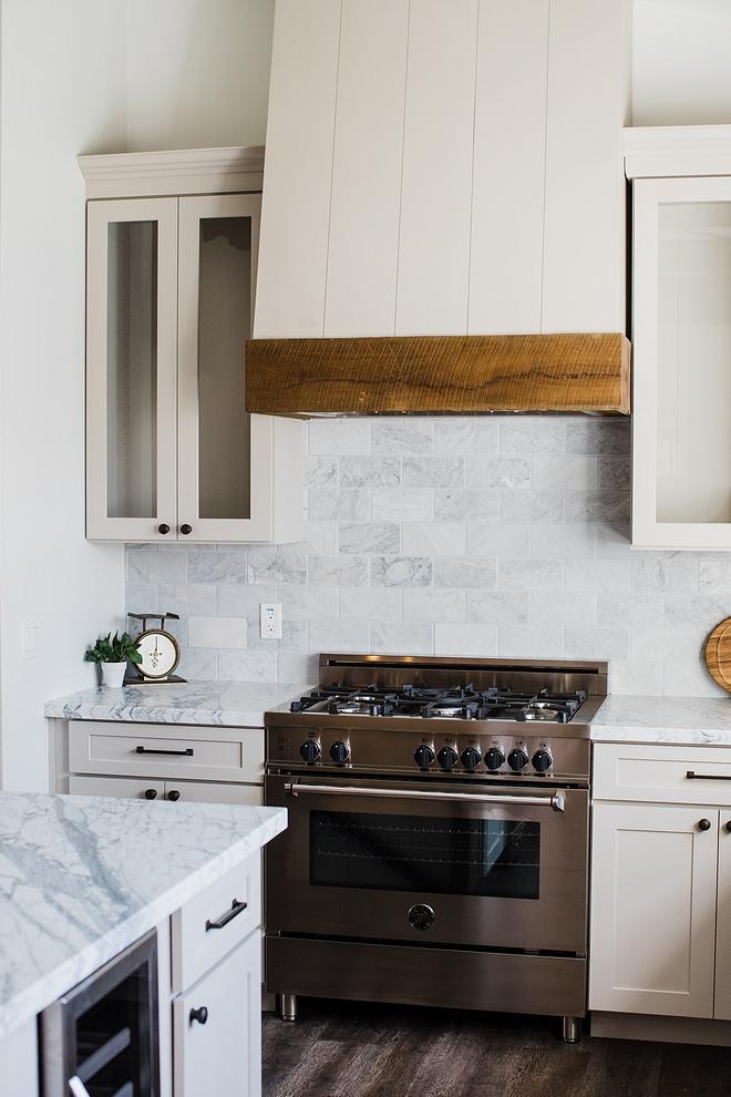 """Backsplash Kitchen carrara marble backsplash Kitchen backsplash is 4""""x8"""" tumbled carrara marble #Backsplash #Kitchenbacksplash #carraramarble #backsplash"""