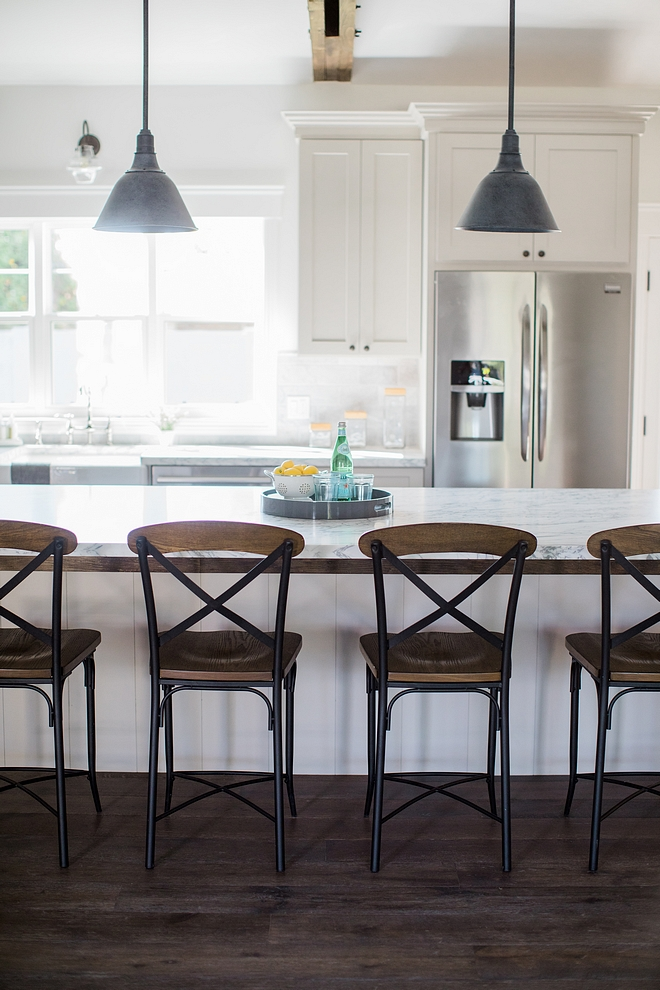 Cross back metal and wood counterstool Kitchen with cross back metal and wood counterstool #crossbackcounterstool #metalcounterstool #woodcounterstool
