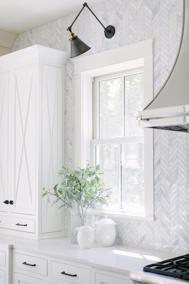 Kitchen backsplash to ceiling White Marble Chevron Pattern Tile Backplash Kitchen backsplash to ceiling White Marble Chevron Pattern Tile #Kitchenbacksplash #backsplashtoceiling #WhiteMarbletile #ChevronPatternTile