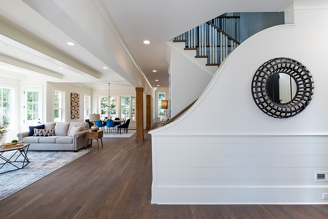 Curved Wall Wainscoting with half wall shilap Foyer Ideas Foyer Curved Wall Wainscoting with half wall shilap #CurvedWall #Wainscoting #halfwallshilap #foyer #shilap