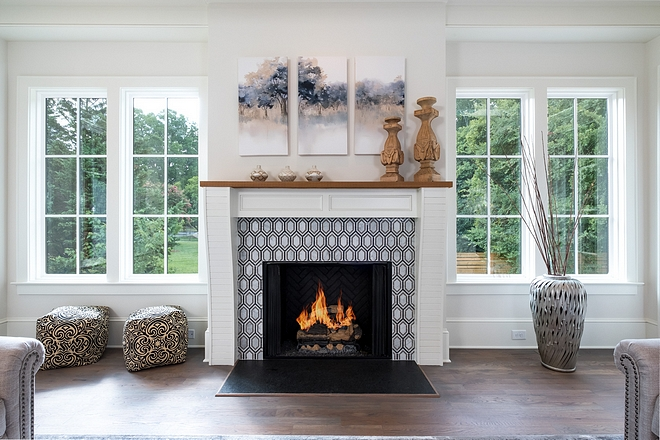 Windows Flanking Fireplace We can't get over the abundance of natural light that is present throughout this home Windows Flanking Fireplace  #Windows #Fireplace